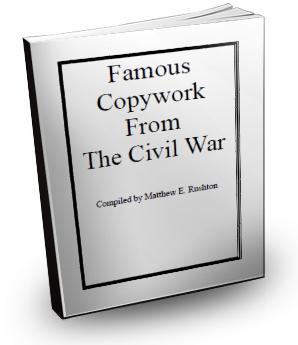 Famous Copywork of The Civil War By Matthew Rushton